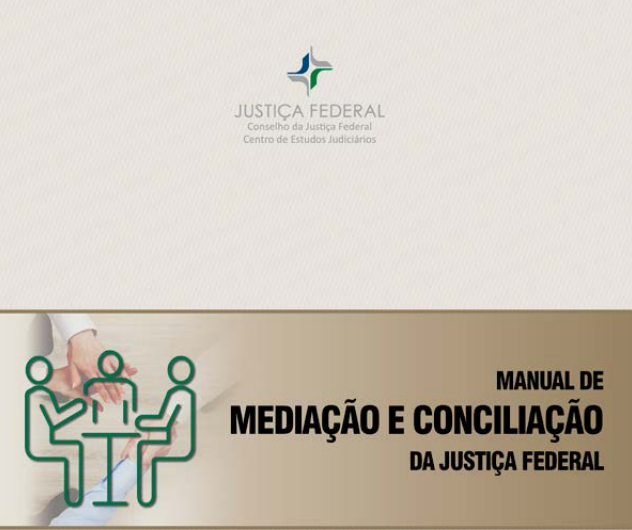 capa do manual de mediacao e conciliacao da justica federal
